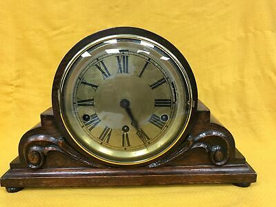 Vintage Wooden Chiming Westminster Whittington Roman Numeral Mantle Clock #122