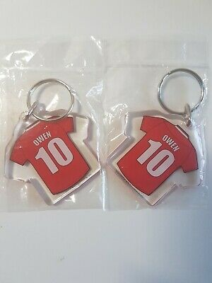 Liverpool Fc Official Plastic Reversible Key Ring-Set Of 2; Owen; New