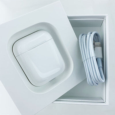 Apple AirPods White Genuine In-Ear Wireless Bluetooth Headsets ChargeCase Used A
