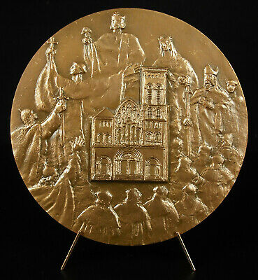 Medal Basilica Vézelay Eardrum of Martex Saint Bernard Clairvaux 90 MM