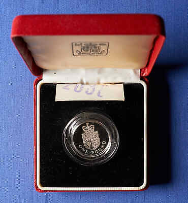 1988 One Pound Silver Commemorative Coin in capsule and Box.