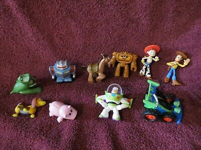"""Lot of 10 Disney Toy Story Figures 2""""/2,5"""" -Play or Cake Toppers"""