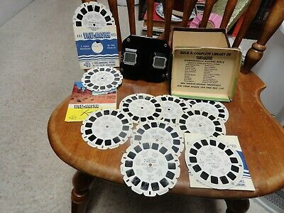 View-Master Stereoscope Box & 10 Discs Plus Booklet.