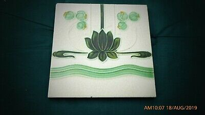 Art Nouveau  Tile By A M  1908