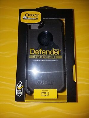New OtterBox Defender Series Case for iPhone 8 iPhone 7 - Black       SHIPS FAST