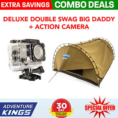 Adventure Kings Deluxe Double Swag Big Daddy + Adventure Kings Action Camera