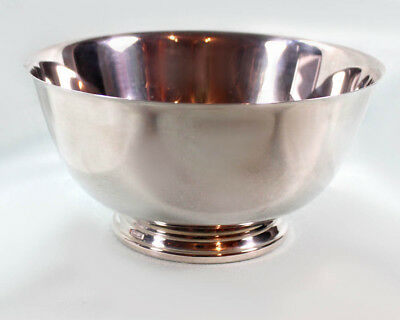 Oneida Silver Plate Round Footed Bowl Vintage Paul Revere Reproduction VGUC