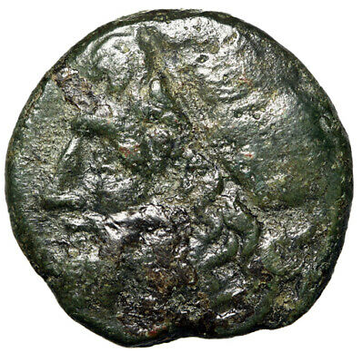 "POSEIDON PORTRAIT Greek Coin Syracuse Sicily ""Trident Weapon"" CERTIFIED GENUINE"