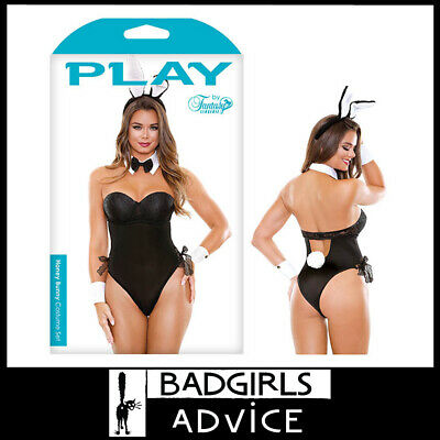 Bad Girls Advice Playgirl Bunny Costume Set - Maid Costume - M/L Size 12-16Au