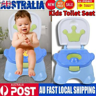 3 in 1 Training Potty Trainer Safety Kids Baby Toddler Toilet Cartoon Seat Chair
