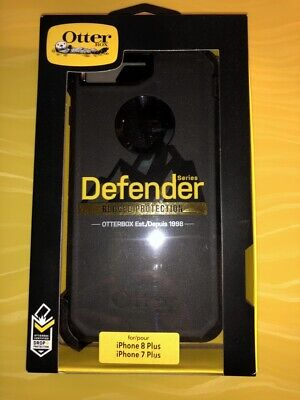 New OtterBox Defender Series Case for Apple iPhone 7 Plus & 8 Plus Black ShpFast
