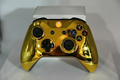 Microsoft Xbox One S Bluetooth Wireless Controller w/Chrome Gold Face Plate