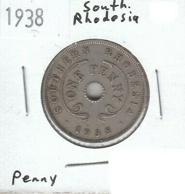 Southern Rhodesia 1 Penny 1938 XF Extra Fine
