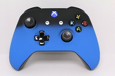 Microsoft Xbox One S Bluetooth Wireless Controller w/Soft Touch Blue Shadow Face