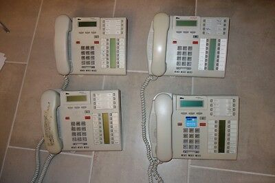 Lot of 4 Nortel Avaya T7316e Business Telephones and Handsets