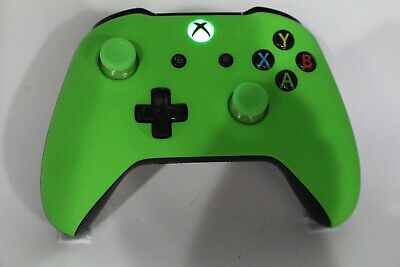Microsoft Xbox One S Bluetooth Wireless Controller w/Soft Touch Green Face Plate