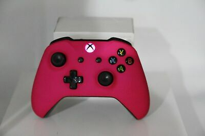Microsoft Xbox One S Bluetooth Wireless Controller w/Soft Touch Pink Face Plate