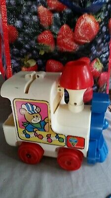 Vintage Toys 1970  Discovery Time Musical Train 4 double side Music  2 Battries