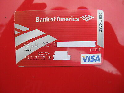 VINTAGE OLD CREDIT DEBIT CARD: BANK of AMERICA VISA