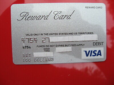 Vintage Old Credit Debit Card: Reward Card Visa