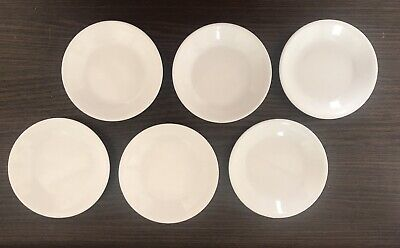 "Corelle Winter Frost White 4.75"" Sauce Plate Bowl Dessert SET OF 6 !!!"