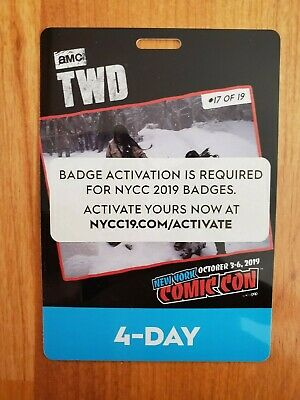 NYCC 4 Day Ticket Badge Pass 2019 New York Comic Con
