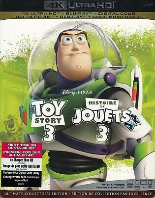 Toy Story 3 (4K Ultra Hd/Bluray)(3 Disc Set)(Used)