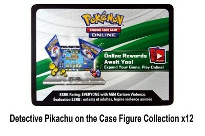 Detective Pikachu on The Case Figure Collection CODE TCGO x12 Pokemon