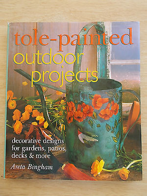 Tole-Painted Outdoor Projects~Areta Bingham~Tables~Chairs~Pots~Pavers~Rocks~HBWC