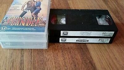 Crocodile Dundee Double 1 & 2  Paul Hogan & Linda Kozlowski -    Vhs Video