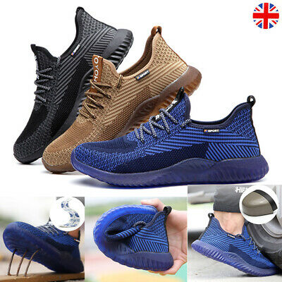 Men Women Safety Shoes Boots Trainers Steel Toe Work Hiking Shoes Sports UK