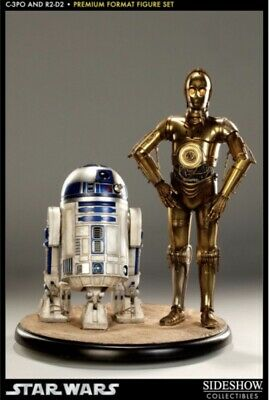 SIDESHOW STAR WARS C-3PO AND R2-D2 PREMIUM FORMAT Statue
