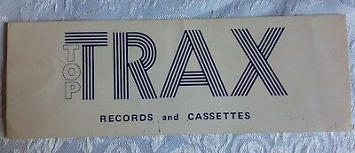 Vintage Sticker TOP TRAX Records and Cassettes Collectable Print Advertising