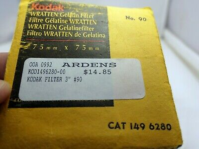 "Kodak Wratten Gelatine Filter 3X3"" Filters CAT 149 6280 tobacco"
