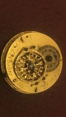 Duchene et Fils Verge fusee small size pocket watch movement.Very Rare. Compl