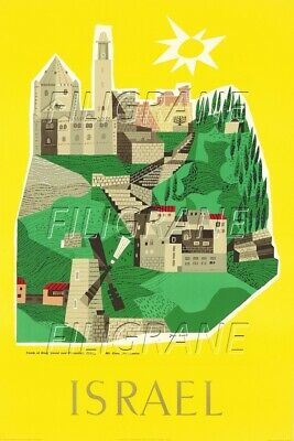 ISRAEL  Rmfi-POSTER/REPRODUCTION A3+(*) d1 AFFICHE VINTAGE