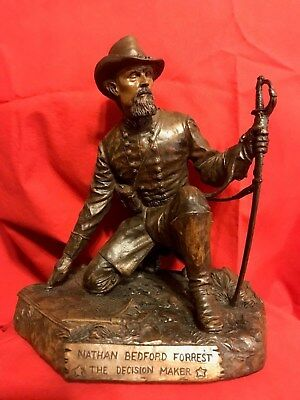 Ron Tunison Nathan Bedford Forrest Civil War Cold Cast Bronze Sculpture/Statue