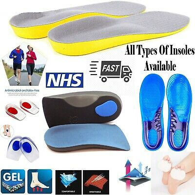 Unisex Orthotic Insoles for Foot Pain Plantar & Tired Feet Various Types Insoles