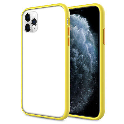 For iPhone 11 Pro Max Case Bumper Clear Ultra Slim Matte Protective Back Cover