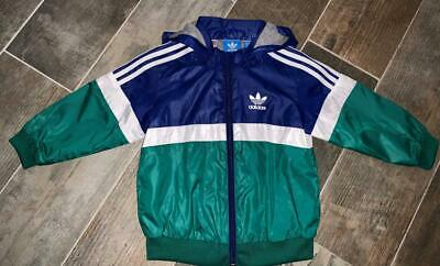 ADIDAS Lightweight Hooded Showerproof Jacket Removeable Hood 9-12m WORN ONCE