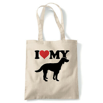 I Love My Irish Red Setter Tote - Reusable Shopping Canvas Bag Gift