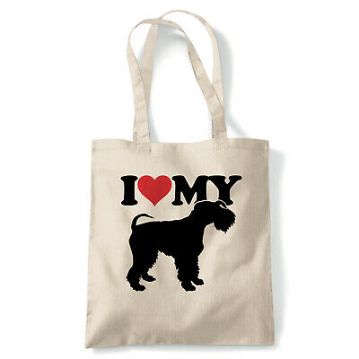 I Love My Kerry Blue Terrier Tote - Reusable Shopping Canvas Bag Gift