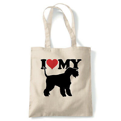 I Love My Lakeland Terrier Tote - Reusable Shopping Canvas Bag Gift