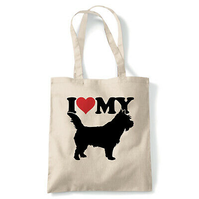 I Love My Norwich Terrier Tote - Reusable Shopping Canvas Bag Gift