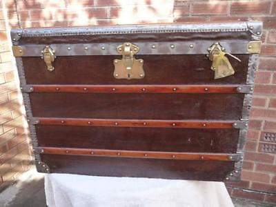 Exquisite Large Antique Moynat Cabin Trunk Circa 1920'S