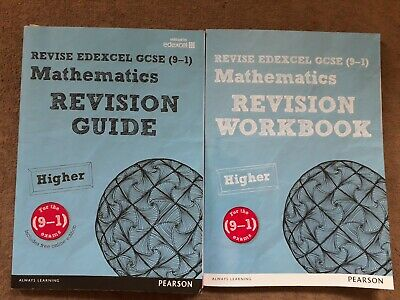 REVISE Edexcel GCSE (9-1) Mathematics Higher Revision Guide and Workbook.