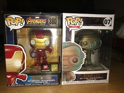 Funko Pop Iron Man Light Up Walgreens Exclusive Lot *Damage*