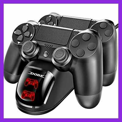 DOBE PS4 Controller Charger Dual Shock 4 Charging Docking Station W LED Light In