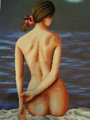 Handmade Finished Needlework Cross Stitch Picture Nude Unframed NEW #3