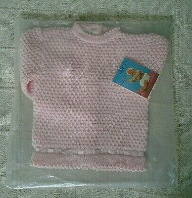 Vintage Baby Jumper - Age 6 months Approx -  Pink - Button Back - New